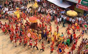 Lễ hội rước voi đình Đào Xá được công nhận là Di sản phi vật thể Quốc gia.