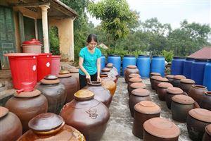 Làng nghề truyền thống sản xuất tương làng Bợ, xã Thạch Đồng