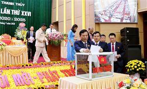 Đại hội đại biểu Đảng bộ huyện Thanh Thủy lần thứ XXVI, nhiệm kỳ 2020 - 2025