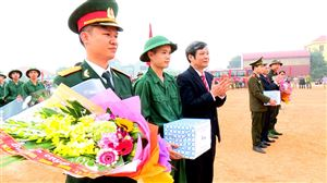 Ngày hội tòng quân thanh niên huyện Thanh Thủy